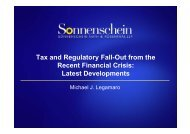 Tax and Regulatory Fall-Out from the Recent Financial Crisis - TTN ...