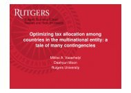 Optimizing tax allocation among countries in the multinational entity ...