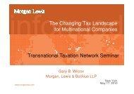 Gary Wilcox - TTN Transnational Taxation Network