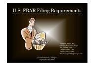 U.S. FBAR Filing Requirements