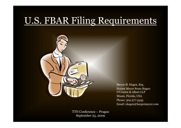 U.S. FBAR Filing Requirements