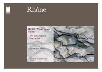 Rubiks agreements - TTN Transnational Taxation Network