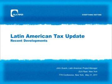 Latin American Tax Update – Recent Developments