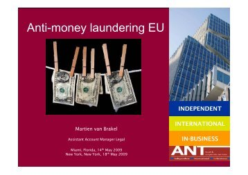 Anti-money laundering EU