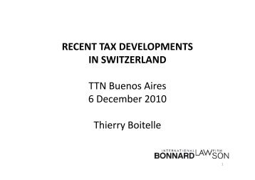 Thierry Boitelle - TTN Transnational Taxation Network