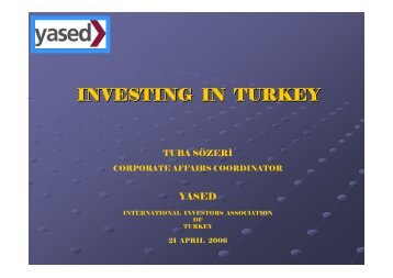 INVESTING IN TURKEY - TTN Transnational Taxation Network