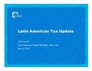 Latin American Tax Update - TTN Transnational Taxation Network