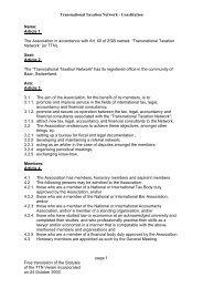 Transnational Taxation Network - Constitution - TTN Transnational ...