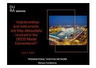 Double non-taxation - TTN Transnational Taxation Network