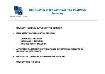 URUGUAY IN INTERNATIONAL TAX PLANNING Summary - TTN ...