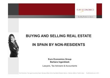 Buying and selling real estate in Spain by non-residents