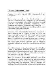 Canadian Transnational Trusts - TTN Transnational Taxation Network