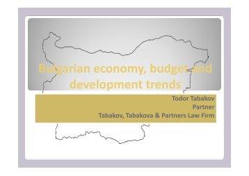 Mr. Todor D. Tabakov, Tabakova & Partners Law Firm, Sofia ...