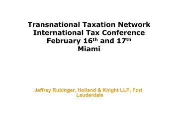 Transnational Taxation Network International Tax Conference - TTN ...
