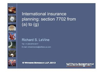 International insurance planning: section 7702 from (a) to (g)
