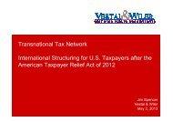 Jim Spencer, Vestal & Wiler, Orlando, USA - TTN Transnational ...