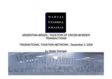 ARGENTINA-BRAZIL - TTN Transnational Taxation Network