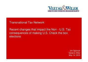 Transnational Tax Network Recent changes that impact the Non ...