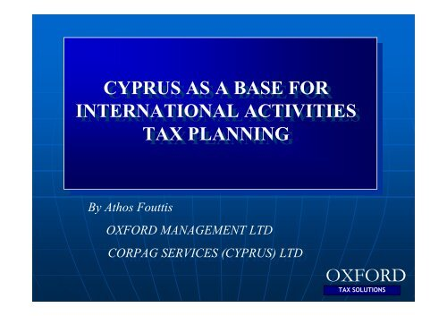 oxford - TTN Transnational Taxation Network
