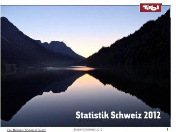 Statistik Schweiz 2012 - Tirol