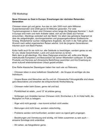 ITB 2009 - Neue Chinesen zu Gast in Europa.pdf - TTR Tirol ...