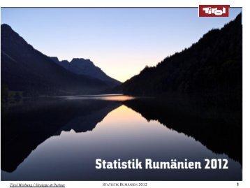 Statistik Rumänien 2012 - Tirol