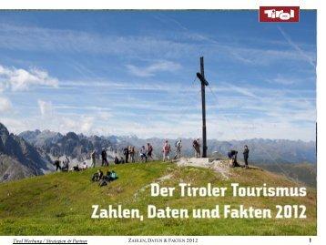 Zahlen, Daten, Fakten 2012 - Tirol