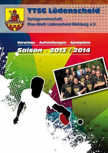 TTSG Magazin 2013-2014 - TTSG BW Lüdenscheid/Wehberg