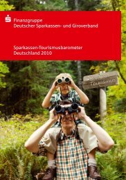 Sparkassen Tourismusbarometer 2010 - Alpen Tourismus Akademie