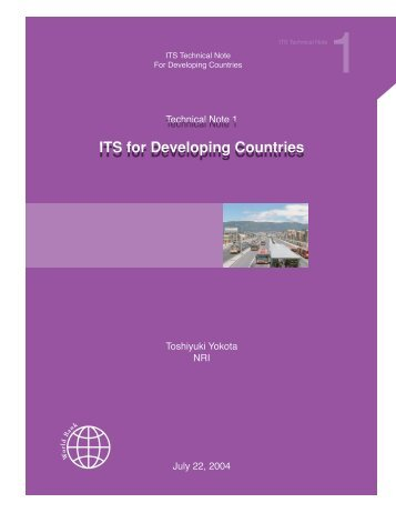 ITS for Developing Countries ITS for Developing Countries - TTS Italia