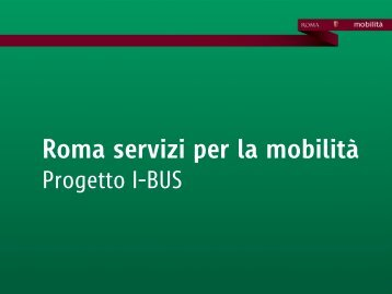 progetto sperimentale I-Bus - Comune di Roma