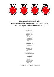 Gruppeneinteilung Winter 2009/2010 - beim Thüringer Tennis ...