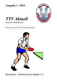 Ausgabe 1/2012 - Tischtennisverein Vilshofen eV