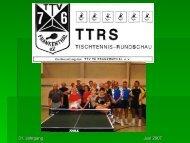 TTRS TISCHTENNIS - RUNDSCHAU