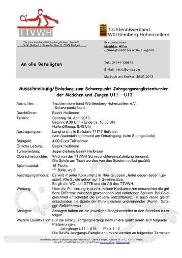Vorlage Ausschreibung Schwerpunkt I V1.0 - TTVWH