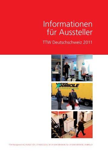 Informationen für Aussteller - TTW