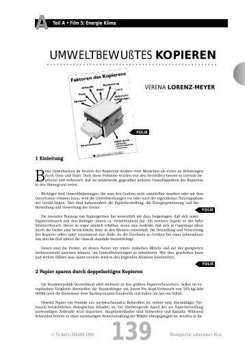 UMWELTBEWUßTES KOPIEREN - TU Berlin