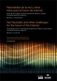 Net Neutrality and other challenges for the future of the ... - TU Berlin