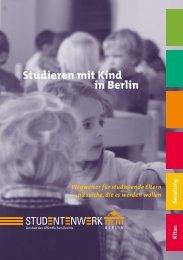 Ratgeber Studieren mit Kind (PDF, 1,2 MB) - TU Berlin