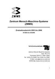 Evaluationsbericht 2003-2006 - TU Berlin
