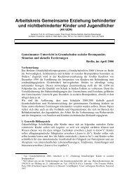 Arbeitskreis Gemeinsame Erziehung behinderter und ... - TU Berlin
