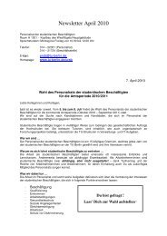 Newsletter April 2010 - TU Berlin