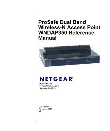 Prosafe Dual Band Wireless-N Access Point WNDAP350 ... - Netgear