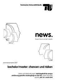 News Sommersemester 2007 (PDF, 701,7 KB) - TU Berlin