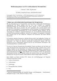 Risikomanagement von EVU in liberalisierten ... - TU Berlin