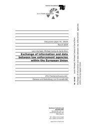 Exchange of information and data between law ... - TU Berlin