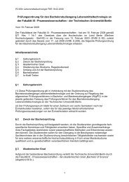Prüfungsordnung für den Bachelorstudiengang ... - TU Berlin