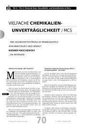 vielfache chemikalien- unverträglichkeit / mcs - TU Berlin