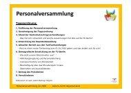 Personalversammlung - TU Berlin
