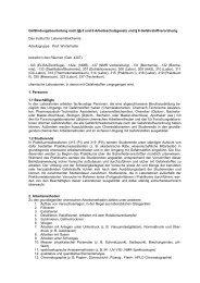 Gefährdungsbeurteilung nach §§ 5 und 6 Arbeitsschutzgesetz und ...